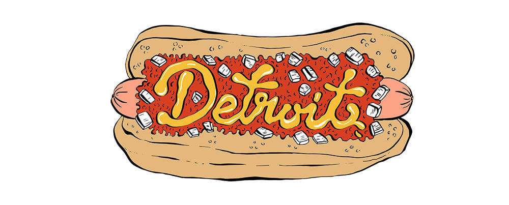 Detroit hot dog